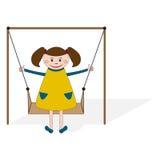 Κορίτσι στην ταλάντευση ελεύθερη απεικόνιση δικαιώματος