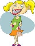 κορίτσι στηριγμάτων απεικόνιση αποθεμάτων