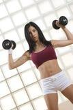 Κορίτσι στη γυμναστική Στοκ φωτογραφία με δικαίωμα ελεύθερης χρήσης