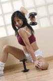 Κορίτσι στη γυμναστική Στοκ Φωτογραφίες