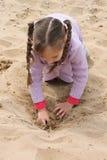Κορίτσι στη θάλασσα Στοκ φωτογραφία με δικαίωμα ελεύθερης χρήσης