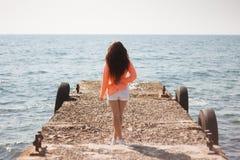 Κορίτσι στη θάλασσα Στοκ Εικόνα