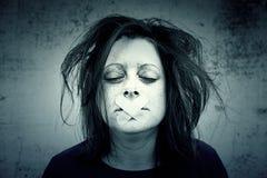 Κορίτσι στη σιωπή Στοκ Φωτογραφία