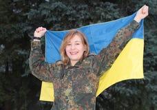Κορίτσι στη στρατιωτική στολή Στοκ Φωτογραφία