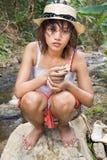 Κορίτσι στη φύση στοκ φωτογραφία