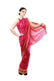 Κορίτσι στη Sari στοκ φωτογραφία με δικαίωμα ελεύθερης χρήσης