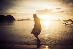 Κορίτσι στον ήλιο Στοκ Εικόνα