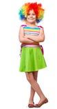 Κορίτσι στον κλόουν Στοκ Εικόνα