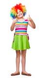 Κορίτσι στον κλόουν Στοκ φωτογραφία με δικαίωμα ελεύθερης χρήσης