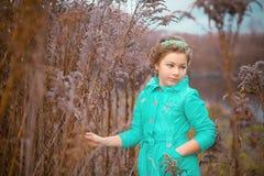 Κορίτσι στους τεράστιους θάμνους Στοκ φωτογραφίες με δικαίωμα ελεύθερης χρήσης