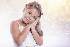 κορίτσι στοχαστικό Στοκ Εικόνες