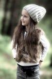 Κορίτσι στο δάσος Στοκ Φωτογραφίες