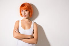 Κορίτσι στο άσπρο πουκάμισο Στοκ Εικόνα