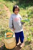 Κορίτσι στο αγρόκτημα τσαγιού στοκ φωτογραφία με δικαίωμα ελεύθερης χρήσης