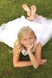 Κορίτσι στο λευκό Στοκ Εικόνες