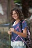 Κορίτσι στο ζωολογικό κήπο Στοκ φωτογραφίες με δικαίωμα ελεύθερης χρήσης