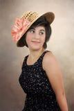 Κορίτσι στο καπέλο αχύρου Στοκ εικόνες με δικαίωμα ελεύθερης χρήσης