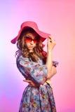 Κορίτσι στο καπέλο Στοκ Φωτογραφίες