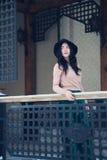 Κορίτσι στο καπέλο Στοκ φωτογραφίες με δικαίωμα ελεύθερης χρήσης
