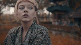 Κορίτσι στο κιμονό Στοκ Εικόνες
