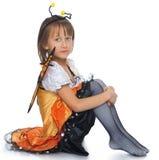 Κορίτσι στο κοστούμι πεταλούδων Στοκ Εικόνες