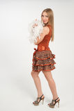 Κορίτσι στο κόκκινο φόρεμα Στοκ εικόνα με δικαίωμα ελεύθερης χρήσης