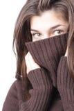 Κορίτσι στο πουλόβερ στοκ εικόνες