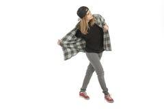 Κορίτσι στο πλήρες μήκος περιστασιακών ενδυμάτων Στοκ Εικόνα