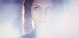 Κορίτσι στο σπίτι Στοκ Φωτογραφία