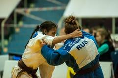 Κορίτσι στο τζούντο Στοκ φωτογραφία με δικαίωμα ελεύθερης χρήσης