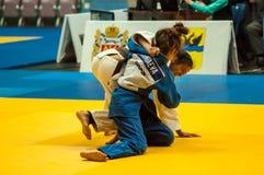 Κορίτσι στο τζούντο Στοκ Εικόνες