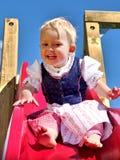 Κορίτσι στο φόρεμα dirndl σε μια φωτογραφική διαφάνεια Στοκ Εικόνες