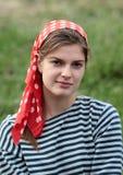 Κορίτσι στο χαρτομάνδηλο Στοκ εικόνες με δικαίωμα ελεύθερης χρήσης