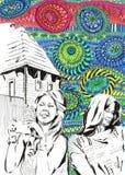Κορίτσι στο χρώμα διακοπών διανυσματική απεικόνιση
