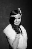 Κορίτσι στο gatsby ύφος Στοκ φωτογραφία με δικαίωμα ελεύθερης χρήσης