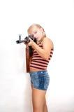 κορίτσι στρατιωτικό Στοκ Φωτογραφία