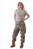 Κορίτσι 11 στρατού Στοκ Εικόνες