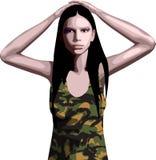 κορίτσι στρατού Στοκ Φωτογραφίες