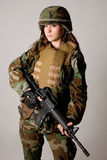 κορίτσι στρατού Στοκ φωτογραφία με δικαίωμα ελεύθερης χρήσης