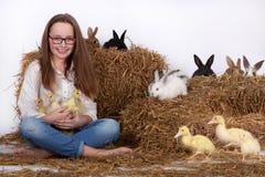 Κορίτσι συνεδρίασης Στοκ εικόνες με δικαίωμα ελεύθερης χρήσης