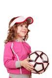 κορίτσι σφαιρών λίγο ποδόσφαιρο Στοκ φωτογραφίες με δικαίωμα ελεύθερης χρήσης
