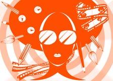 κορίτσι σχεδίου στοκ εικόνα με δικαίωμα ελεύθερης χρήσης