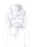 κορίτσι σχεδίων λίγο μολύβι απεικόνιση αποθεμάτων