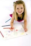 κορίτσι σχεδίων Στοκ Φωτογραφίες