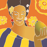 κορίτσι Ταϊτή Στοκ Εικόνα