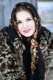 κορίτσι τα εθνικά ρωσικά φ&o Στοκ Εικόνες