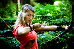 Κορίτσι της Αμαζώνας Στοκ Φωτογραφίες