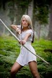 Κορίτσι της Αμαζώνας Στοκ Εικόνες