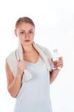 Κορίτσι της Νίκαιας που κρατά ένα μπουκάλι νερό Στοκ φωτογραφία με δικαίωμα ελεύθερης χρήσης