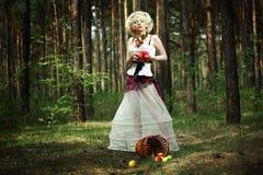 Κορίτσι της Apple Στοκ εικόνα με δικαίωμα ελεύθερης χρήσης
